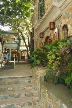 ST. THOMAS - the little alley ways are the best with flowers and bushes and…