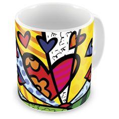 Caneca Porcelana Personalizada Romero Britto A New Day - ArtePress | Brindes Personalizados, Canecas, Copos, Xícaras