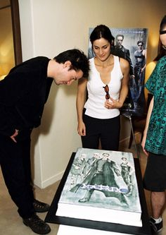 """""""celebrating the success of the matrix in Keanu Matrix, Matrix Film, The Matrix Movie, Trinity Neo, Enter The Matrix, Keanu Reeves Quotes, Carrie Anne Moss, Keanu Reaves, Film Poster Design"""