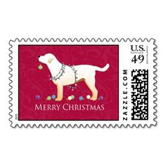 Yellow Labrador Retriever Merry Christmas Design Stamps...Add your own Labs picture if you'd like. Click here to see>>> http://www.zazzle.com/yellow_labrador_retriever_merry_christmas_design_stamps-172595678789269099?rf=238292882670995917