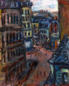 #BÉLA_CZÓBEL  *  Parisian Streets. rue Vital. Parisian, Street, Painting, Art, Fall Living Room, Exhibitions, Big Cats, Art Background, Painting Art