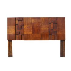 Cubist Queen Size Walnut Headboard by Lane | From a unique collection of antique and modern beds at http://www.1stdibs.com/furniture/more-furniture-collectibles/beds/