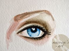 daal,donuts and doodles: Tuesday Tutorial: Watercolor Eyes...