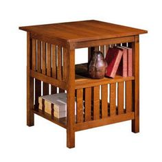 Mission Collection Book Table  WOOD SPECIES:  Oak  DIMENSIONS:  H29 W27 D27