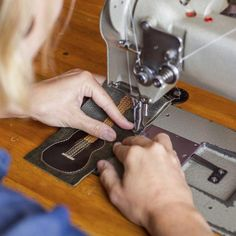 Take your time when sewing leather -- you only get one chance to get it right.