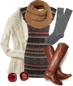"""""""Striped Sweater Dress"""" by qtpiekelso on Polyvore"""