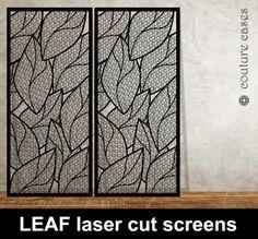 Leaf laser cut metal screens