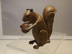 victorian tape measures | Metal Victorian Figural Squirrel Tape Measure