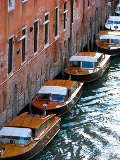 Water Taxis, Venice, Italy.