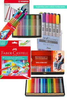 Colacorelinha por Ma Stump » Arquivos » Dicas de lápis e canetinhas para pintar livros de colorir