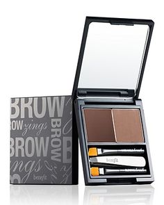 BeneFit Brow Zings Brow Kit I adore BeneFit cosmetics. Hands down, this has revolutionized my face. Best Eyebrow Makeup, Eyebrow Kits, Best Eyebrow Products, Skin Makeup, Beauty Makeup, Beauty Products, Benefit Products, Makeup Kit, Eyebrow Wax