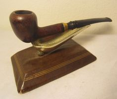 Vintage Medico Gold Crest Bent Acorn Style Briar Estate Tobacco Smoking Pipe