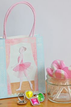 ballerina favor bag | little ballerina party | Jade Celebrations | party boxes | party in a box Ballerina Party, Little Ballerina, Pretty Ballerinas, Party In A Box, Party Themes, Jade, Celebrations, Favors, Boxes