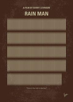 Rain Man (1988) ~ Minimal Movie Poster by Chungkong #amusementphile