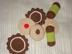 Garn och Gott: Ballerinakex Crochet Food, Free Crochet, Amigurumi Patterns, Crochet Patterns, No Bake Cake, Baby Toys, Free Pattern, Crochet Earrings, Knitting