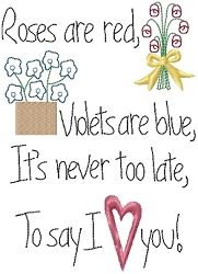 Never Too Late Sampler 5x7   Primitive   Machine Embroidery Designs   SWAKembroidery.com HeartStrings Embroidery