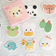 Etsy find... Shy Animals Cartoon Kawaii Sticker Box Set - Bear Pig Frog Chicken Panda Stickers - 45 pieces Get your kawaii fix with this sticker box full of 45 oh-so-cute shy animal stickers. From bears to frogs, there are approximately 2 stickers of all of those pictured. Perfect for sticking anywhere - in your scrapbook, planner or journal, or even for kids crafts. The stickers are assorted sizes. #kawaii #japanese #korean #stationery #stickers #etsy #crafts #affiliate