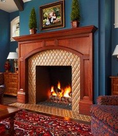 Pewabic Pottery - Fireplace, Grosse Pointe, MI | Tiles | Pinterest ...