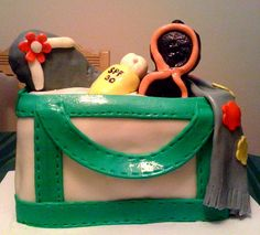 Beach Bag Cake - I enjoyed so much doing this cake! My client was ...