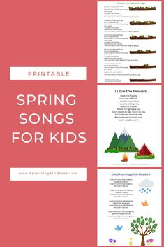 Preschool Spring Songs and Fingerplays You'll Adore