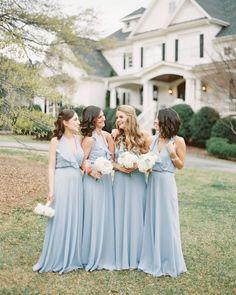 No words to describe this BEAUTIFUL bridal party! Amsale Bridesmaid, Green Bridesmaid Dresses, Wedding Dresses, Blue Wedding, Wedding Colors, Real Weddings, Wedding Inspiration, Bridal, Rain Photo