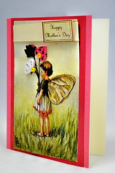 Cicely Mary Barker, Quilled Mother's Day Card, inspired vintage artwork, The Daisy Fairy, Personalized Available