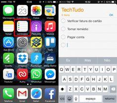 Abra o aplicativo e crie um novo lembrete (Foto: Reprodução/Helito Bijora)