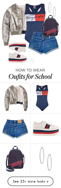 """Old School"" by sheplusher on Polyvore featuring Tommy Hilfiger, Gucci and Roberto Coin"