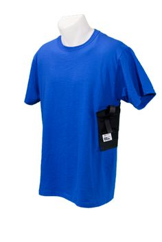 Shoulder Holster Built into a Shirt  Features:  Durable, washable, comfortable built-in holster  Built-in undergarment shoulder strap  Holster made in the U.S.A.  Holds many styles and sizes of handguns  50/50 poly-cotton blend shirt  Machine wash and dry as you would a regular t-shirt  One gun shirt replaces all your holsters. Order at http://www.wearccw.com/collections/gun_holsters/products/holster-shirt