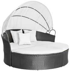 Jago RTSL04 Rattan Sun Day Bed DIFFERENT COLOURS (Grey):Amazon.co.uk:Garden & Outdoors