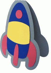 Silhouette Design Store - View Design #86756: rocket ship shadow card