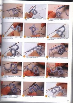 Discover thousands of images about Best 12 Needle tatting – basic stitches pictorial. Chiacchierino ad Ago by DMC – Scuola Nazionale di Merceria needle tatting – Page 263601384423296531 – SkillOfKing. Filet Crochet, Irish Crochet, Crochet Lace, Crochet Stitches, Crochet Hooks, Crochet Patterns, Needle Tatting Tutorial, Needle Tatting Patterns, Tatting Jewelry