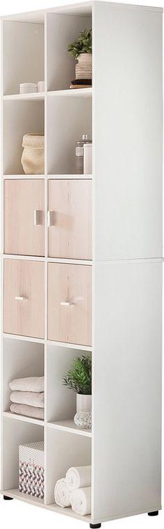Badezimmer Hochschrank in Weiß Anthrazit 60 cm breit Jetzt - badezimmer hochschrank 60 breit