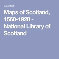 Maps of Scotland, - National Library of Scotland Inverness, Genealogy, Maps, Scotland, Projects, Log Projects, Blue Prints, Family Tree Chart, Map