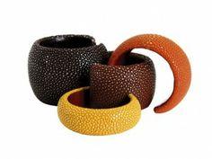 A Cuckoo Moment - Stingray Leather Cuffs - ORRO Contemporary Jewellery Glasgow
