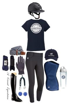 """""""navy and gray?"""" by a-circuit-equestrian on Polyvore featuring Tervis and Roeckl Sports"""