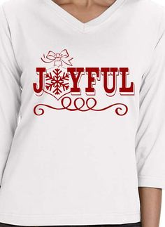 2dce61751 Joyful Christmas t-shirt. Customize online. Design Your Own, My Design,