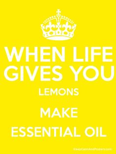 Essential Oils: lemon oil is so versatile...put a drop in your water, cook or bake with it! I teach classes how to cook with Essential oils! Member 2247675