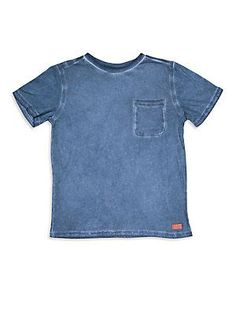7 For All Mankind Boy's Patch Pocket Tee - Dress Blue - Size