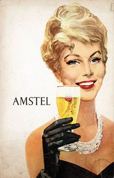 Frans Mettes (1909-1984)Amstel Holland Beer79 | B+ | Frans Mettes (1909-1984) - Amstel Holland Beer | € 280 - 450 Beer Advertisement, Vintage Advertising Posters, Vintage Advertisements, Vintage Posters, Retro Ads, Beer Cartoon, Beer Commercials, Funny Vintage Ads, Most Popular Drinks