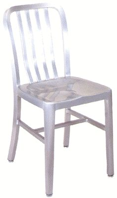 Armless Slat Back Aluminum Chair 57 Metal Furniture, Home Projects, Dining Chairs, Charts, Home Decor, Beautiful, Graphics, Decoration Home, Room Decor