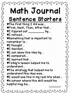 I use math journals in my Math Workshop. I like the idea of using Math Journal Sentence starters with my students. This would serve as a great way to incorporate writing in math and allow students to expand their thinking. Math Strategies, Math Resources, Multiplication Strategies, Anchor Charts, Maths 3e, Communication Orale, Math Talk, Math School, Fourth Grade Math