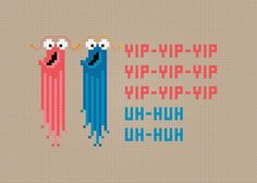 The Martians from Sesame Street - The Yip-Yips - Cross Stitch PDF Pattern Download. $4.00, via Etsy.