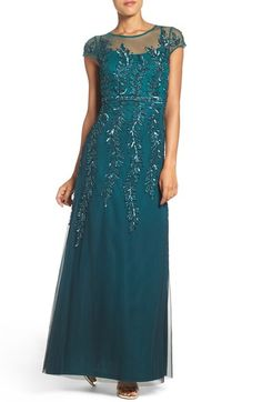 Adrianna Papell Sequin Mesh Fit & Flare Gown available at #Nordstrom