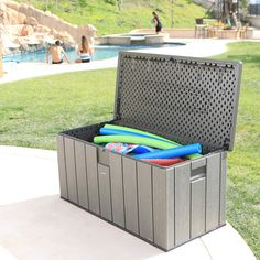 Lifetime 60215 Heavy-Duty Outdoor Storage Deck Box ** (paid link) For more information, visit image link.