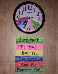 Really need to do this! Including what time is acceptable to get out of bed on the weekends