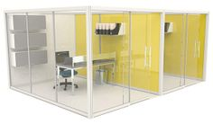Our Architectural Office Screen System can be configured to create cellular offices and provide private spaces within open plan areas.  It is an ideal way to maximise efficient use of space and improve privacy within todays busy workplace. http://www.genesys-uk.com/Architectural-Office-Screens.Html