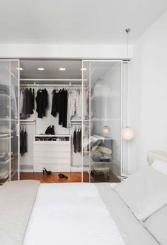 Creating an open closet does not require a lot of space, even you can store all your clothes in one room. See if you are able to create an open closet design Bedroom Closet Design, Closet Designs, Bedroom Decor, Decor Room, Bedroom Ideas, Master Bedroom, Home Design, Home Interior Design, Design Ideas