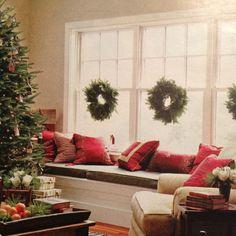 Wreaths inside