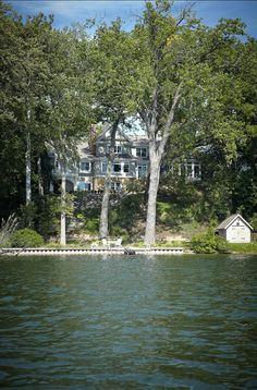 Shingle Style Lake House. Take this home tour.  Beautiful.